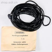 Titania, câble noir de connexion de 5 m pour flash, comme neuf !